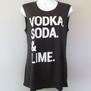 Chaser Vodka Soda Lime Muscle Tank Top
